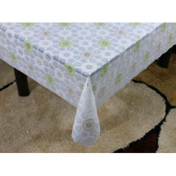 Printed pvc lace tablecloth by roll ireland